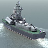 nanuchka3 missile boat 3d model