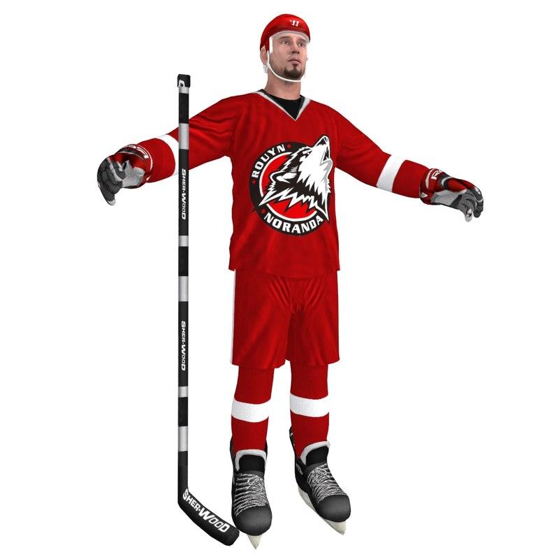 hockey player 3 3d model