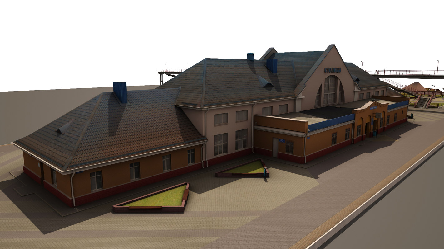 real stowbtsy railway station 3d max