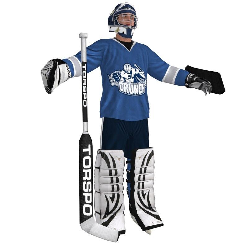 hockey goalie 3d max