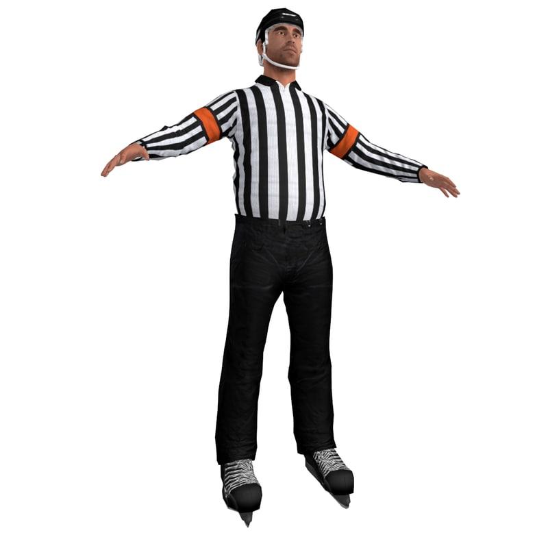 3d hockey referee model