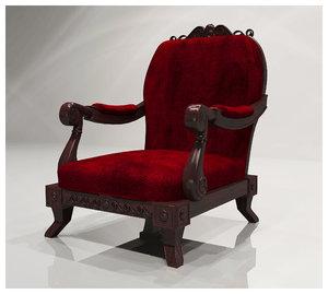 arm chair 3d 3ds