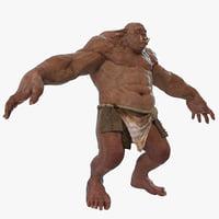 3d model cave troll
