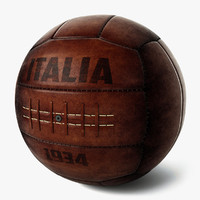 3d vintage soccer ball italy