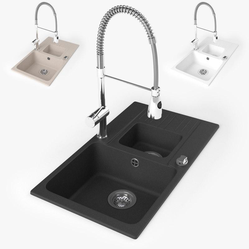 3d sink kitchen faucet model