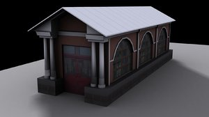 3d model real entrance underground passage