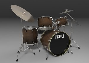 3d tama acoustic drum sets model