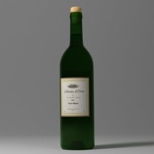 free wine bottle 3d model