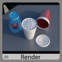 3dsmax plastic cup