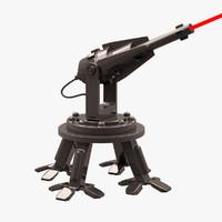 robot mobile laser 3d max