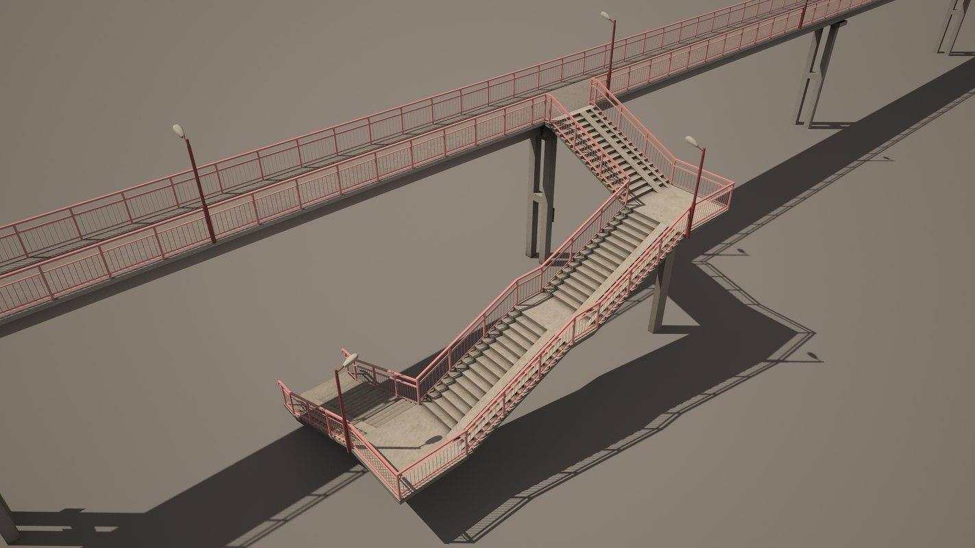 railway footbridge max