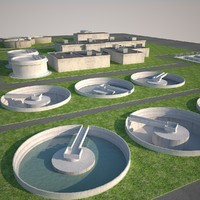 water treatment plant 3d model