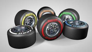 f1 rims tires types 3d c4d