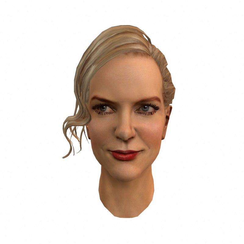 nicole mary kidman 3d model