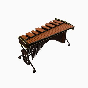 xylophone chinese musical 3d obj