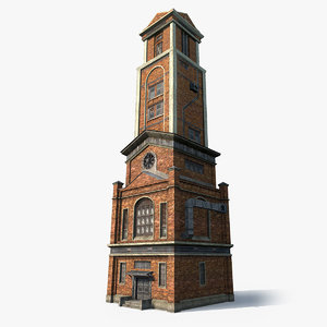 brick factory workshop 3d model