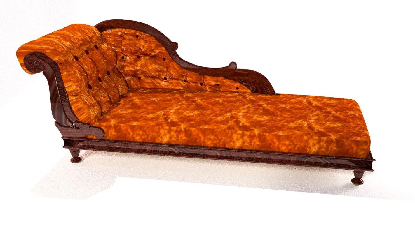 3d antique couch