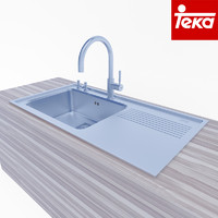 3d kitchen sink teka model