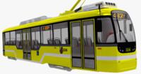 czech tram variolf 3d obj