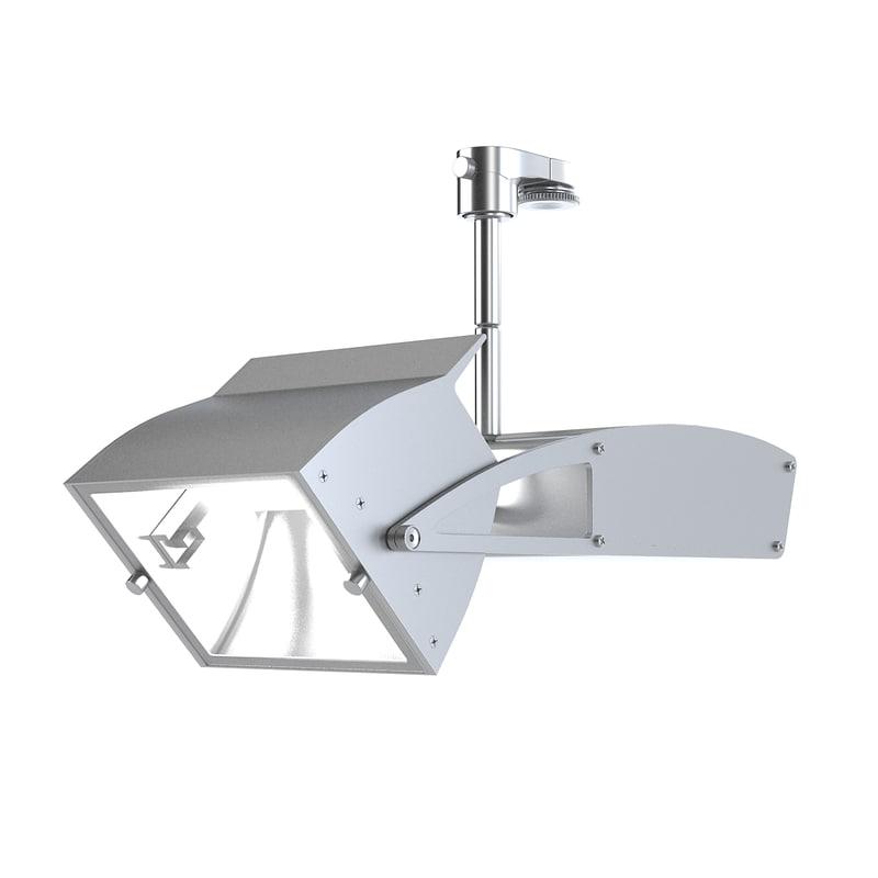 3d hsp-3002 track light model
