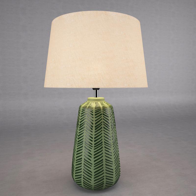 modern table lamp 3d model