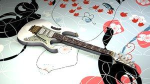 3d steve ibanez jem7vwh guitar