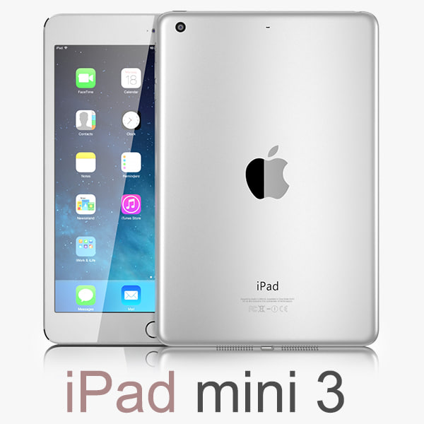 3d model apple ipad mini 3