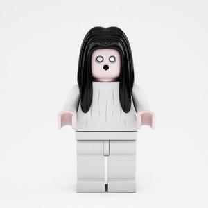 lego woman 3d max