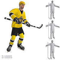 rigged hockey player s 3d model