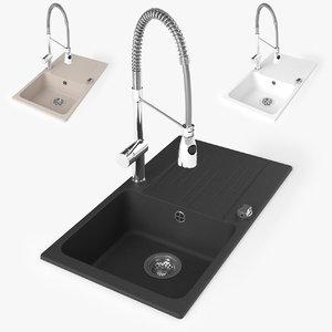 3d max sink kitchen faucet