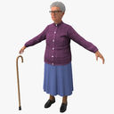elderly woman 3D models
