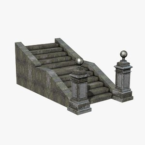 stone stairs 3d dxf
