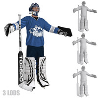 3d hockey goalie model