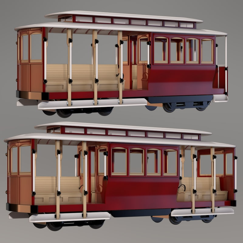 3ds max 2 cable car