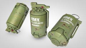 sci-fi grenade c4d