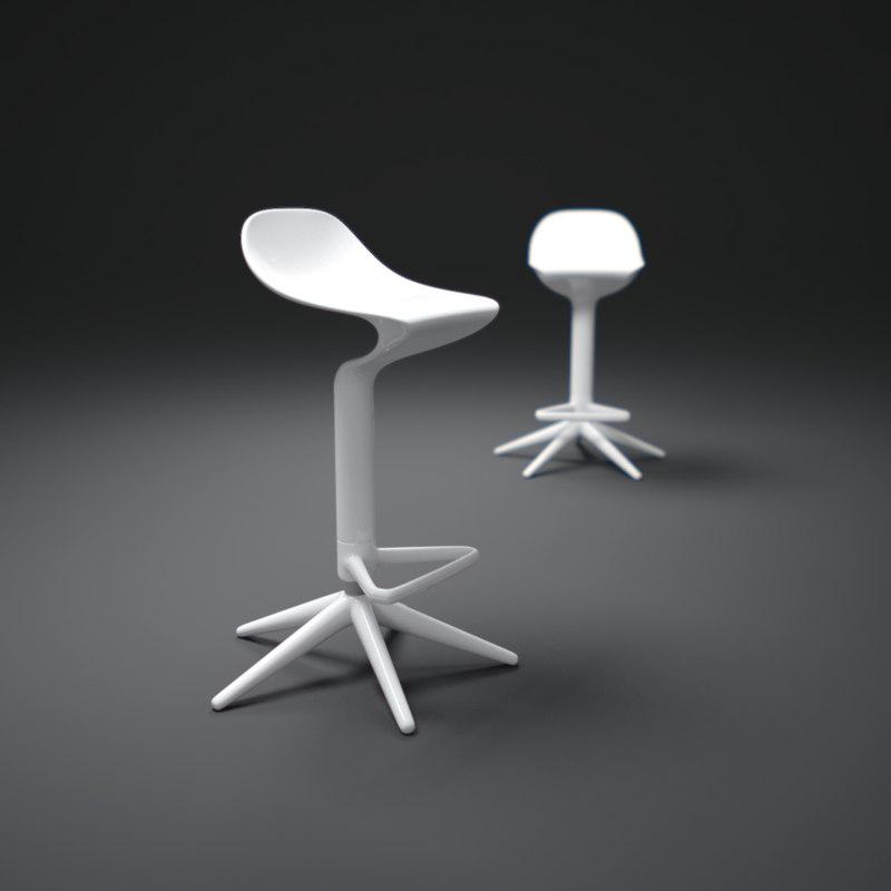 3d model kartell-spoon-stool