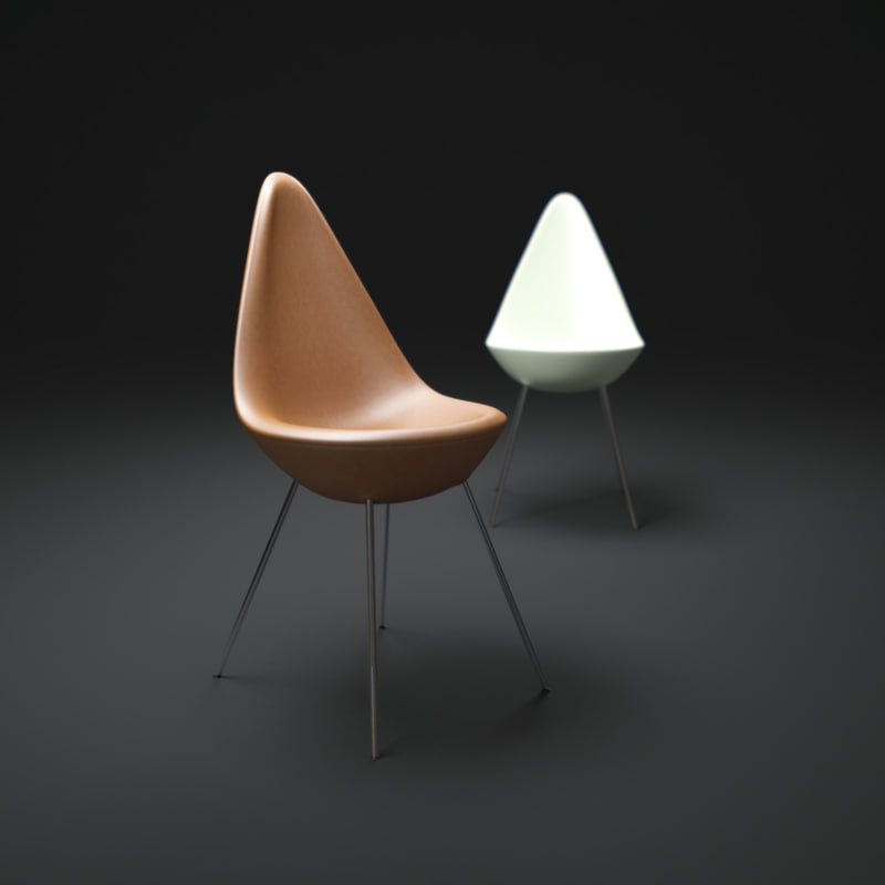 3d the-drop-chair model