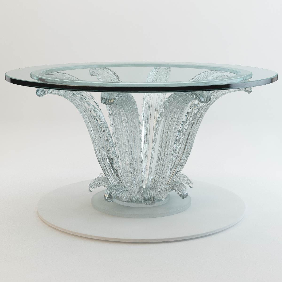 3d Cactus Table Lalique Model