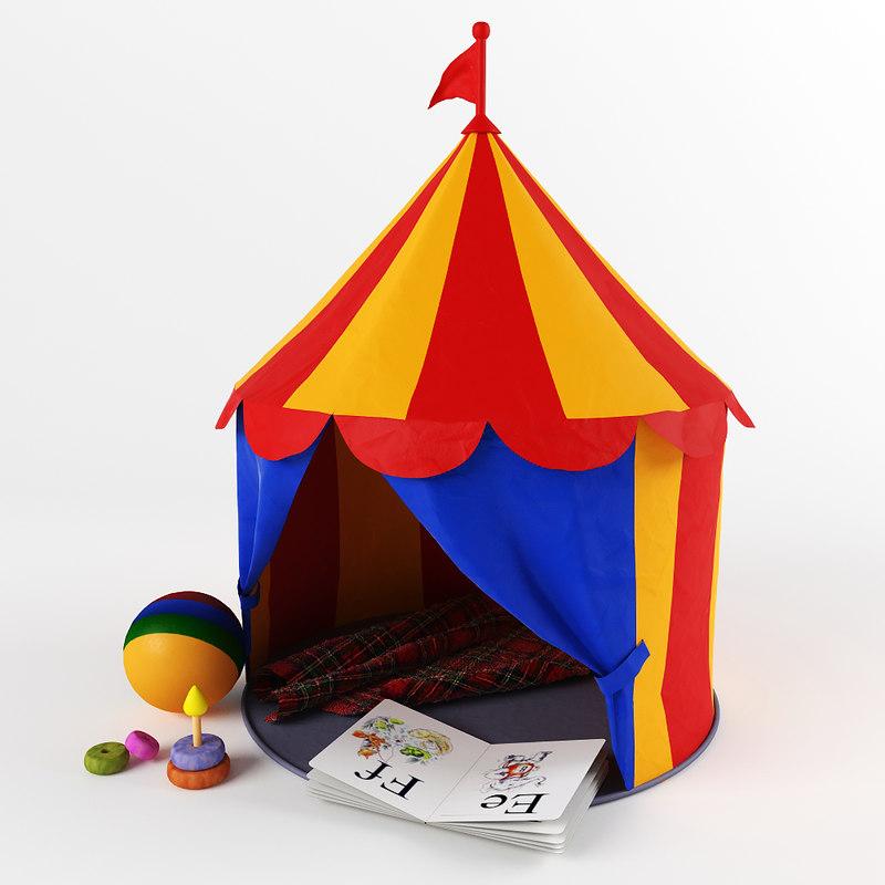 3d children circus tent model