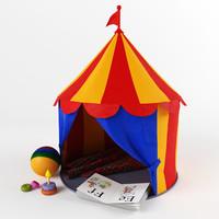 3d children circus tent model & Circus Tent 3D Models for Download | TurboSquid