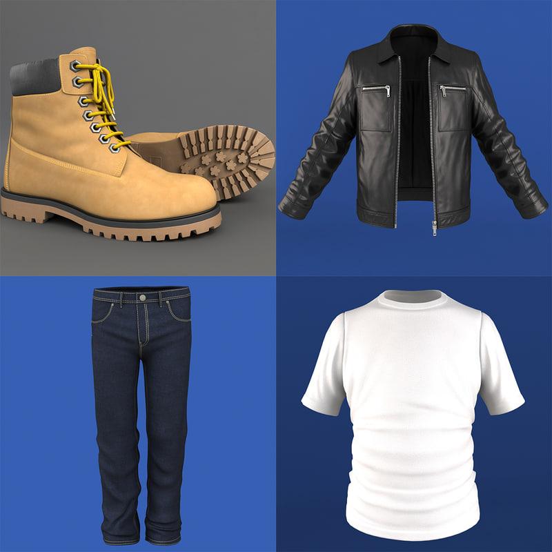 mans clothing pack 3d model