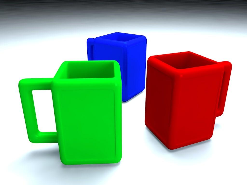 3d c4d cups