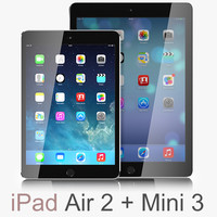 2 ipad air space 3d max