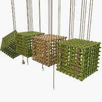 Jungle Bamboo Cage Set