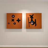Contemporary Art Canvas Orange