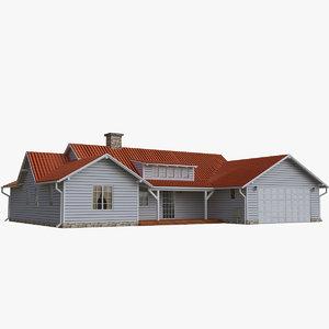 3d model of single family house
