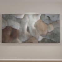 3d model of contemporary art canvas wall