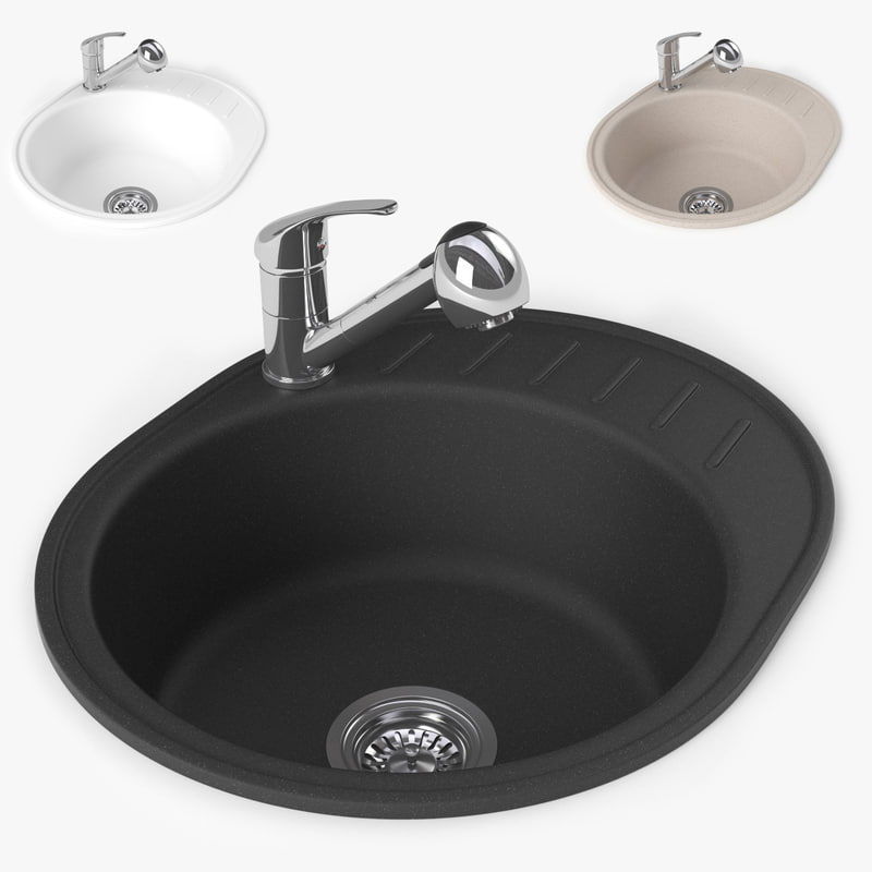 sink small granite 3d max