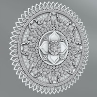 Carved rosettes 3