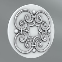 3ds max classical decoration ornamental